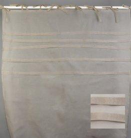 Gordijn polyester voile light grey 140x280