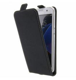TPU Flipcase Samsung Galaxy S7 Edge - Zwart