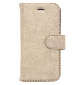 Glitter Wallet TPU Booklet iPhone 8 / 7 - Goud