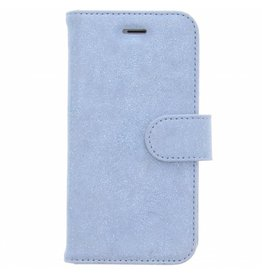 Glitter Wallet TPU Booklet iPhone 8 / 7 - Blauw