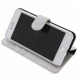 Glitter Wallet TPU Booklet iPhone 8  Plus / 7 Plus - Zilver