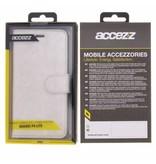 Glitter Wallet TPU Booklet Huawei P9 Lite - Zilver