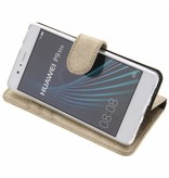 Glitter Wallet TPU Booklet Huawei P9 Lite - Gold