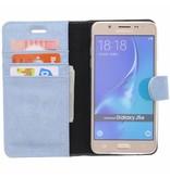 Glitter Wallet TPU Booklet Samsung Galaxy J5 (2016) - Blue