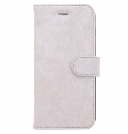 Glitter Wallet TPU Booklet iPhone 6(s) Plus - Silver