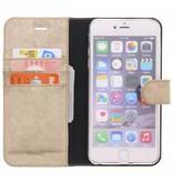 Glitter Wallet TPU Booklet iPhone 6(s) Plus - Goud