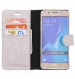 Glitter Wallet TPU Booklet Samsung Galaxy J5 (2016) - Zilver