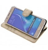 Glitter Wallet TPU Booklet Samsung Galaxy J5 (2016) - Gold