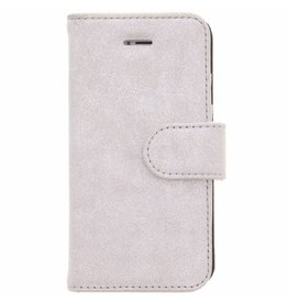 Glitter Wallet TPU Booklet iPhone 5 / 5s / SE - Zilver