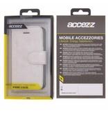 Glitter Wallet TPU Booklet iPhone 5 / 5s / SE - Zilver