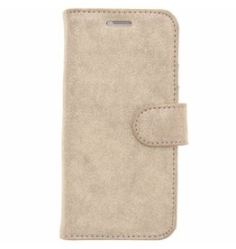 Glitter Wallet TPU Booklet Samsung Galaxy S7 - Gold