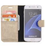 Glitter Wallet TPU Booklet Samsung Galaxy S7 - Gold