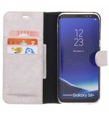 Glitter Wallet TPU Booklet Samsung Galaxy S8 Plus - Silver