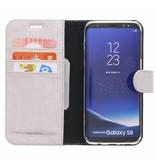 Glitter Wallet TPU Booklet Samsung Galaxy S8 - Zilver