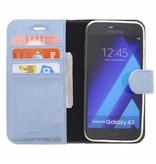 Glitter Wallet TPU Booklet Samsung Galaxy A3 (2017) - Blue