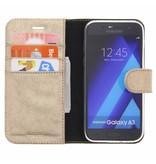 Glitter Wallet TPU Booklet Samsung Galaxy A3 (2017) - Goud