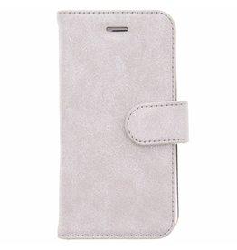 Glitter Wallet TPU Booklet iPhone 6 / 6s - Zilver