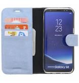 Glitter Wallet TPU Booklet Samsung Galaxy S8 - Blue
