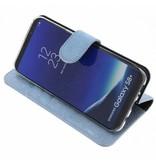 Glitter Wallet TPU Booklet Samsung Galaxy S8 - Blauw