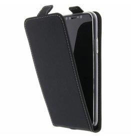 TPU Flipcase iPhone X - Black
