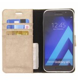 Glitter Wallet TPU Booklet Samsung Galaxy A5 (2017) - Gold