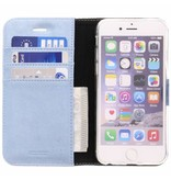 Glitter Wallet TPU Booklet iPhone 6 / 6s - Blue