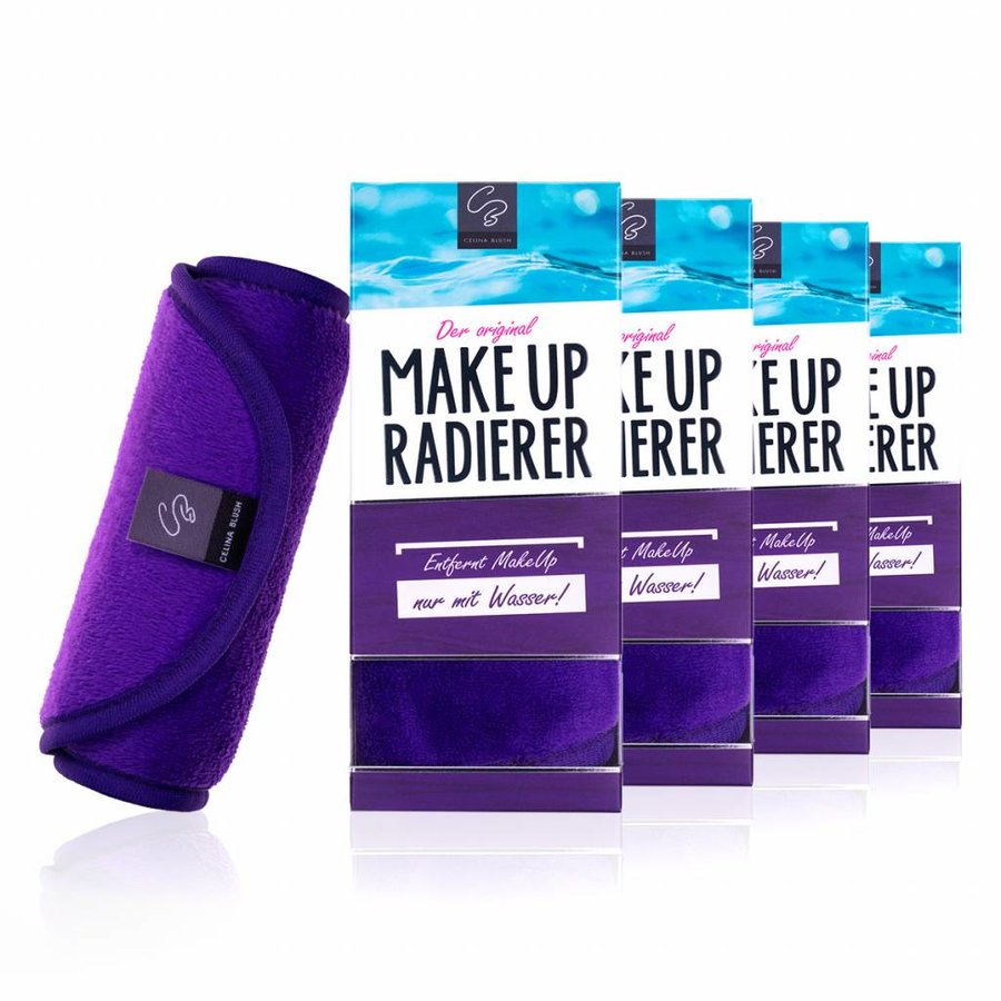 Sparpaket 4 x MakeUp Radierer (Lila)