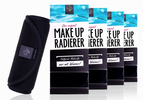 Celina Blush Sparpaket 4 x MakeUp Radierer (Schwarz) 25% Rabatt!