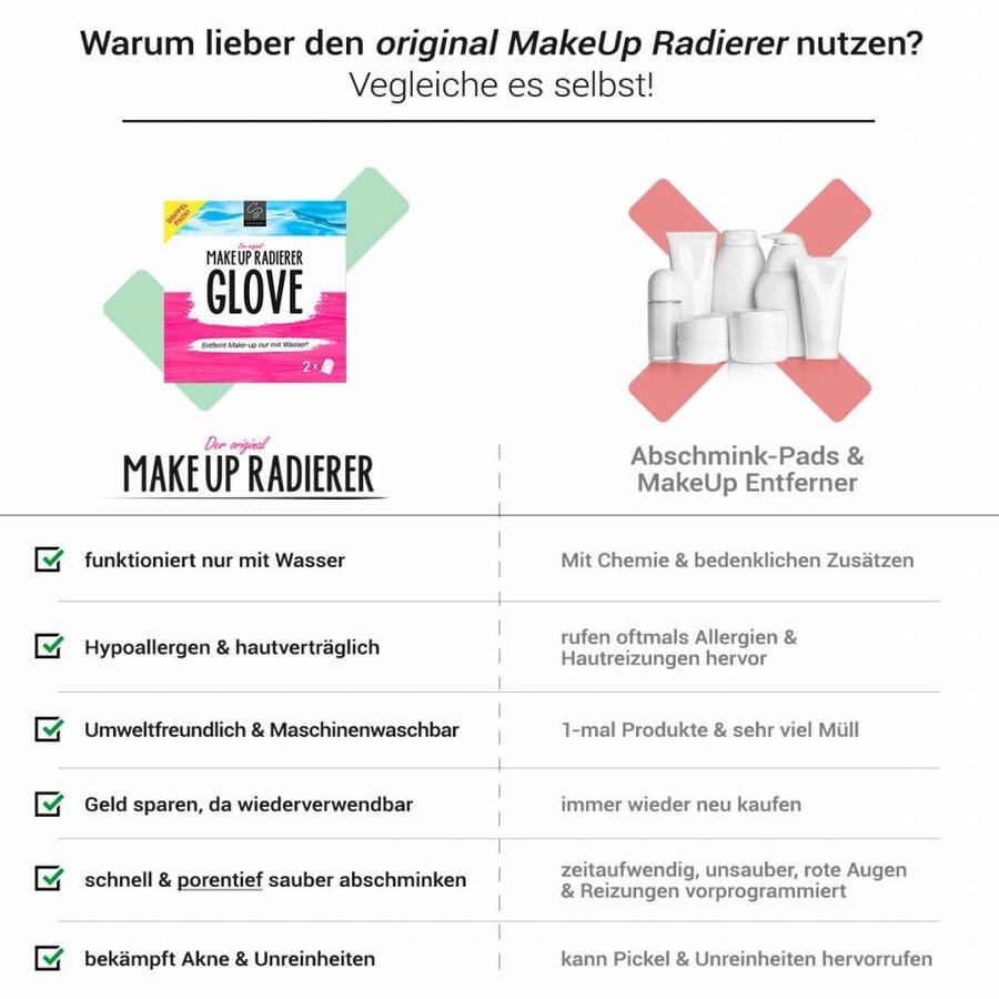 MakeUp Radierer GLOVE | 2-er Set (Pink)