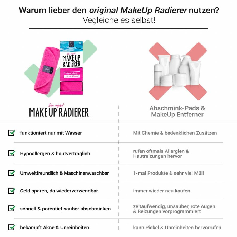 Limango-Deal: 2er-Set MakeUp Radierer (Pink)