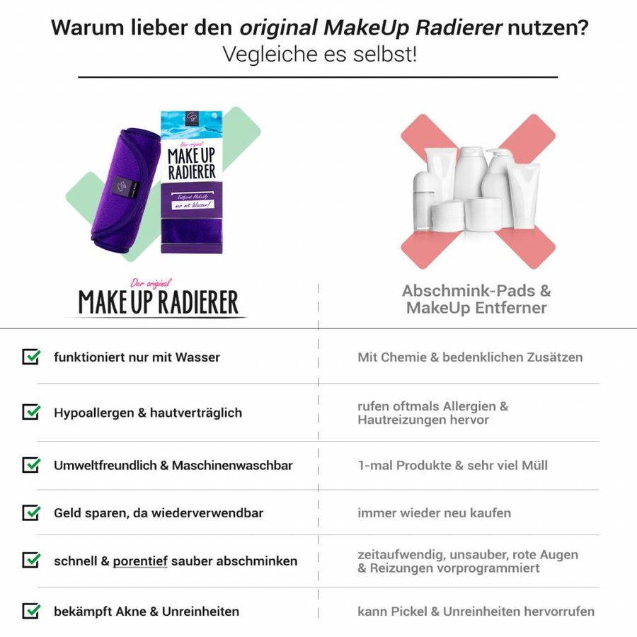 Limango-Deal: 2er-Set MakeUp Radierer (Lila)