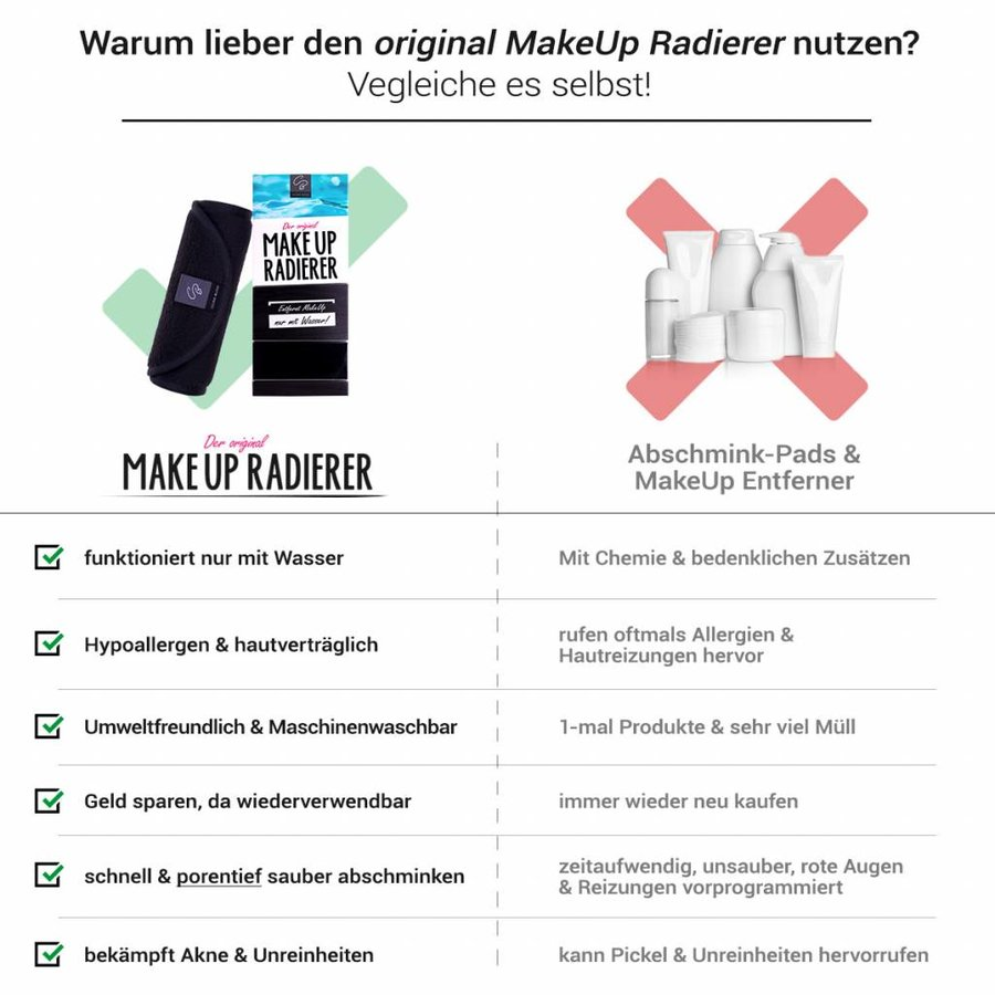 Sparpaket 4 x MakeUp Radierer (Schwarz)
