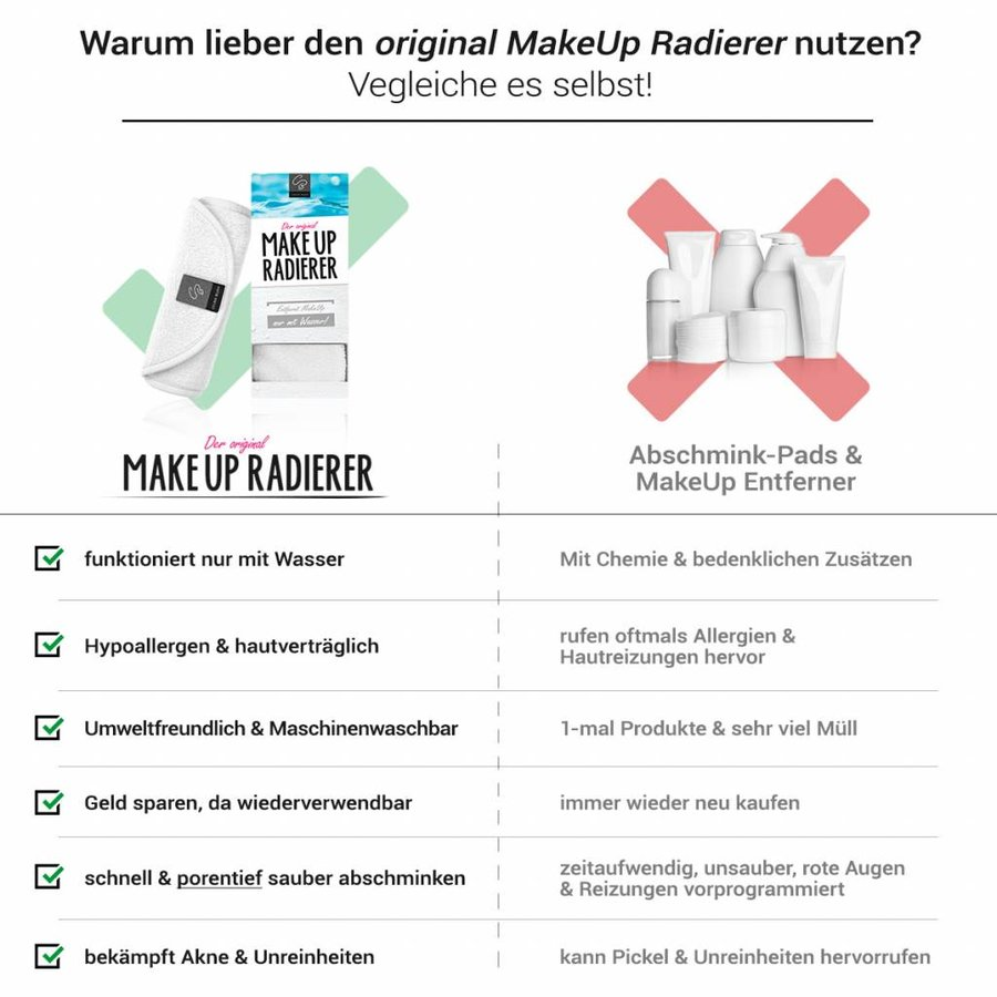 MakeUp Radierer | 4-er Set (Weiß)