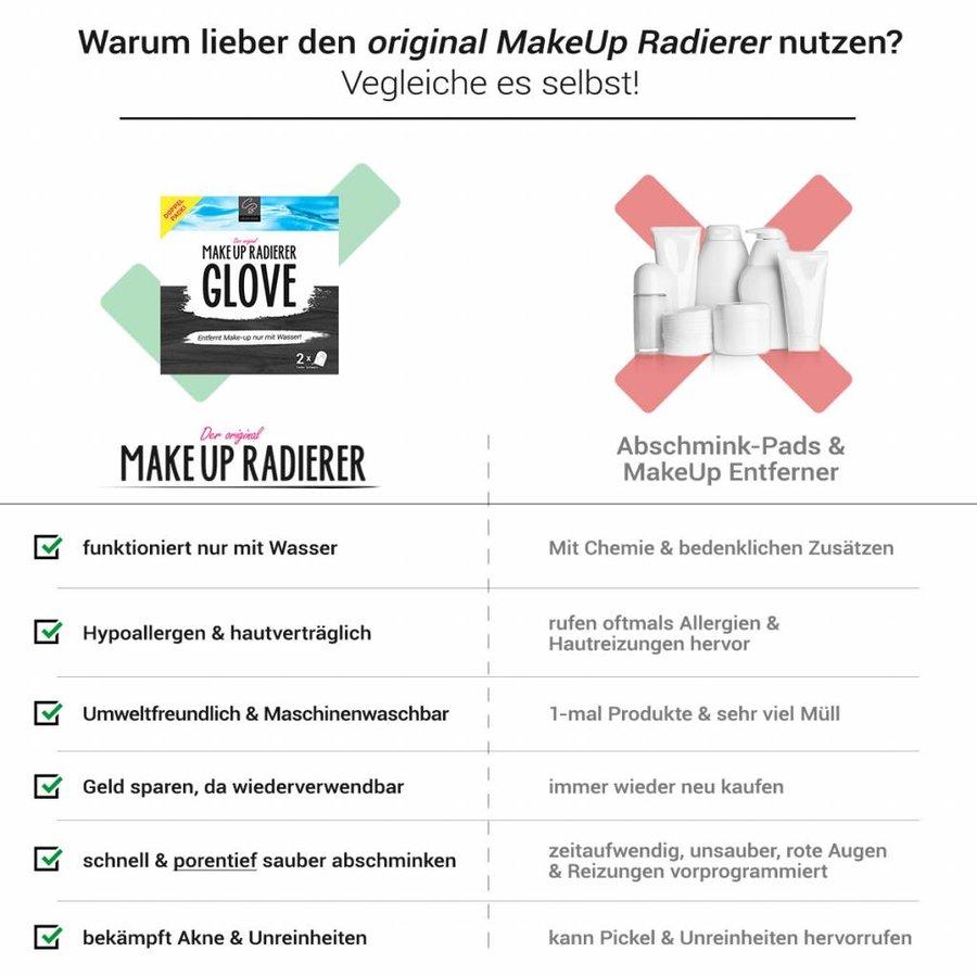 MakeUp Radierer GLOVE   2-er Set (Schwarz)