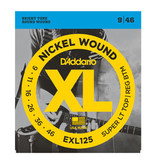 D'addario D'addario EXL125 Nickel Wound, Super Light Top/ Regular Bottom, 9-46