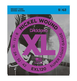 D'addario D'addario EXL120 Nickel Wound, Super Light, 9-42
