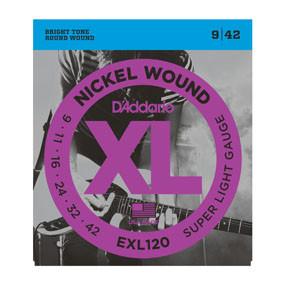 D'addario D'addario EXL120 Nickel Wound, Super Light, 9-42