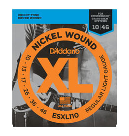 D'addario D'addario ESXL110 Nickel Wound, Regular Light, Double BallEnd, 10-46