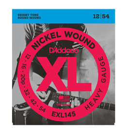 D'addario D'addario EXL145 Nickel Wound, Heavy, Plain 3rd, 12-54