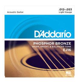 D'addario D'addario EJ16 Phosphor Bronze, Light, 12-53