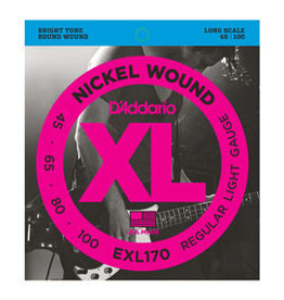 D'addario D'addario EXL170 Nickel Wound Bass, Light, 45-100, Long Scale