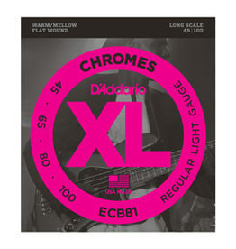 D'addario D'addario  ECB81 Chromes Bass, Light, 45-100, Long Scale