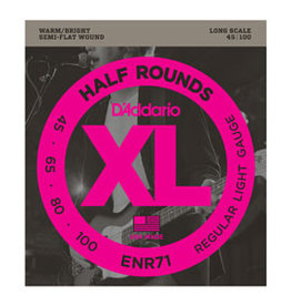 D'addario D'addario ENR71 Half Rounds Bass, Regular Light, 45-100, Long Scale