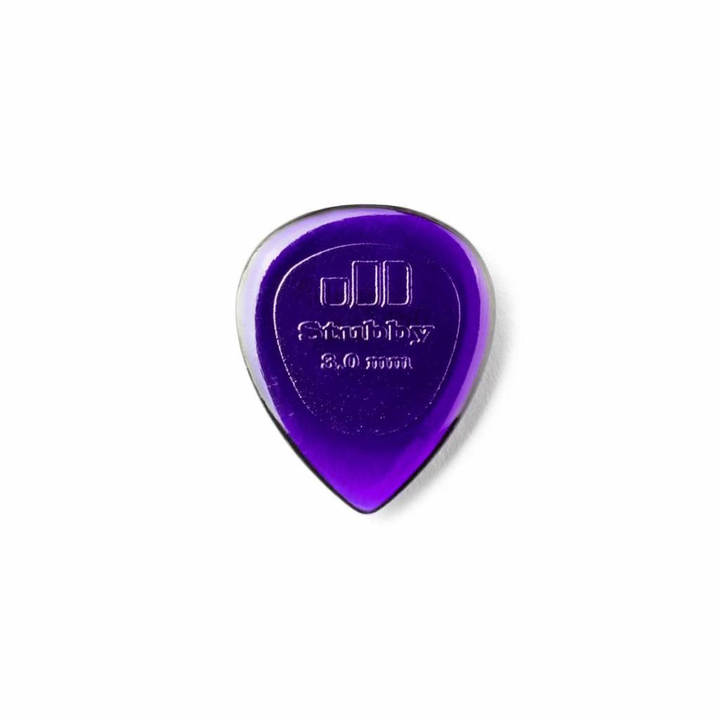 Dunlop Stubby Jazz Picks dark purple 3.00 mm