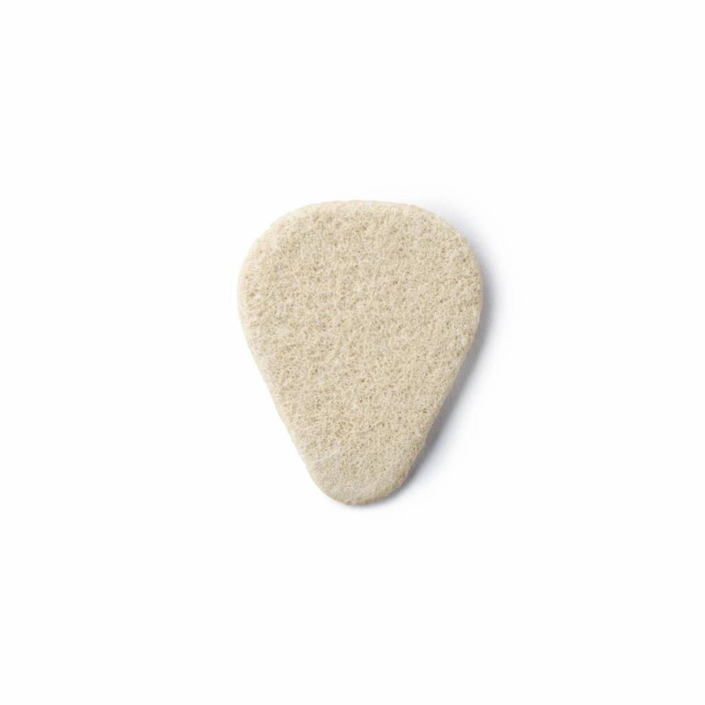 Dunlop  Felt Picks - Nick Lucas Shape white 3.20 mm