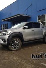 Toyota Spatbordverbreders voor Toyota Hi-Lux  (Revo)- 2015 tot 2019 - 75mm breed