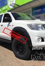 Toyota Spatbordverbrders voor Toyota Hi-Lux  2005-2012 standaard (pre face-lift)- 50 mm breed