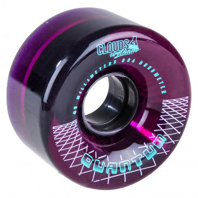 Clouds Clouds urethane wheels Quantum outdoor 62mm 80A clear purple 4pk