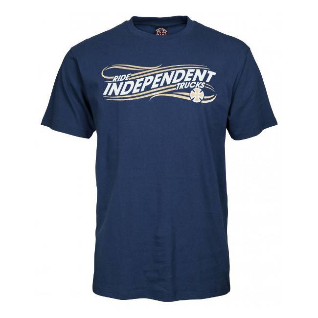 Independent Independent T Shirt Whip Navy L ADULT