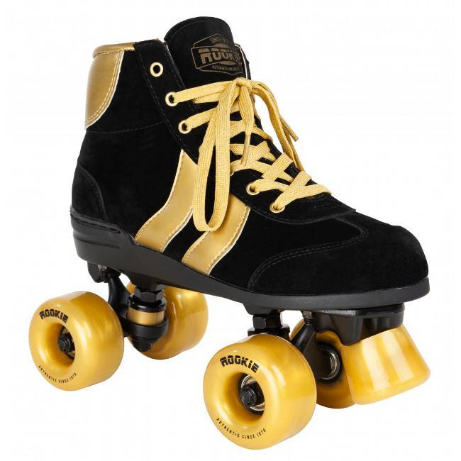 Rookie Rookie rollerskates authentic black gold 37